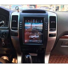 10.4'' Tesla Style Vertical HD Screen Android Navigation Radio For Toyota Land Cruiser Prado 2003 2004 2005 2006 2007 2008 2009