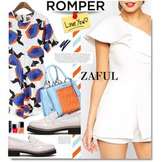 Zaful.com: Romper, I love you. by hamaly on Polyvore featuring Miu Miu, By Terry, Chloé, women's clothing, women's fashion, women, female, woman, misses and juniors