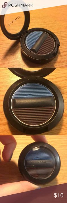 """MAC indigo blend eyeshadow Contains blue and purple eyeshadows with a navy blue eyeliner. The Studio Sculpt Shade & Line Eyeshadows can be used wet """"for a defined look with super-saturated colour"""" or dry for """"medium buildable coverage."""" Only used once but the blue shade has a chip in it. MAC Cosmetics Makeup Eyeshadow"""