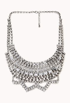 High Society Bib Necklace | FOREVER21 Make a statement #StatementNecklace #Rhinestones #Accessories
