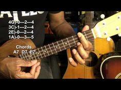 Easy Ukulele Blues Lesson In A Major EricBlackmonMusicHD - YouTube