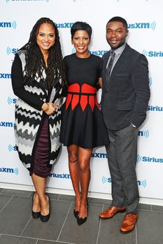 Filmmaker Ava DuVernay, anchor Tamron Hall, and actor David Oyelow