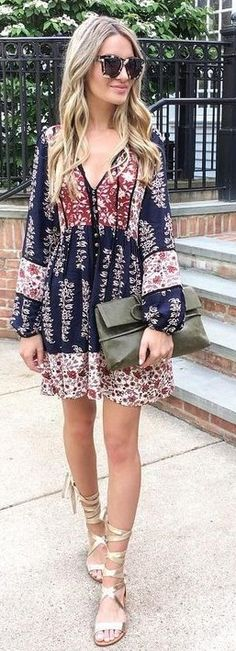 Adorable Printed Summer Dress                                                                             Source
