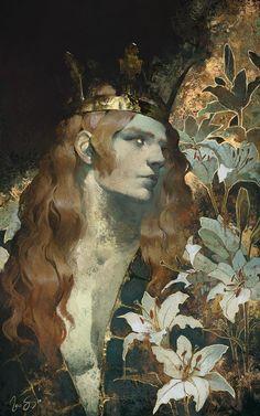 st-just: Le Roi du Lys by Naomi Savoie Painting Inspiration, Art Inspo, Arte Fashion, Illustrator, Wow Art, Pretty Art, Art Plastique, Aesthetic Art, Art Reference