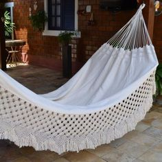 Hammock Natural Cotton Two Persons Top Hanging Hammock Chair, Backyard Hammock, Indoor Hammock, Blue Dining Room Chairs, Home Porch, Metal Pergola, Relax, Tiny House Living, Living Room
