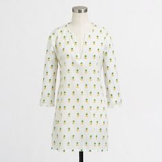 Pineapple-printed tunic to go with my pineapple-printed dress. J.Crew Factory - Factory printed crinkle tunic