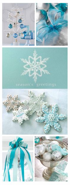 Teal and blue Christmas Holiday...cant wait to holidays at our home!