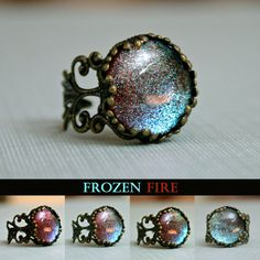 Frozen Fire Color Shifting Crown Ring on Etsy, $11.00