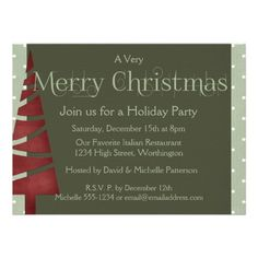 Christmas 1 :: Holiday Party Invitations 2   Click on photo to purchase. Check out all current coupon offers and save! http://www.zazzle.com/coupons?rf=238785193994622463&tc=pin