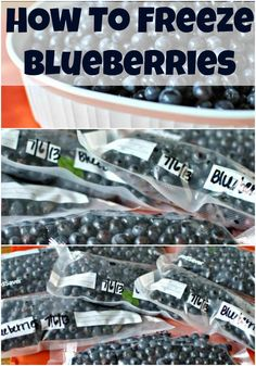 How to freeze blueberries by Becky's Best Bites.