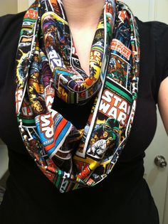 Star Wars Comic infinity scarf by kimfinityscarves on Etsy, $17.00