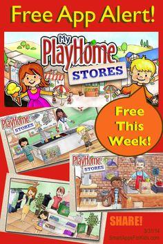 Free App Alert! Top App My PlayHome Stores goes FREE! Best app for preschool! http://www.smartappsforkids.com/2014/03/free-app-alert-my-playhome-stores.html