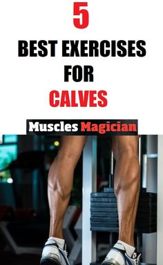Best exercises for calves. Don't skip your leg day. You don't want bird legs. And calf workouts are very important. Read more about the best exercises for calves. Basic Gym Workout, Best Leg Workout, Gym Workout Chart, Leg Workout At Home, Squat Workout, Workout Ideas, Calf Exercises At Home, Leg Workouts For Men, Exercises For Calves