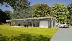 Modernes holzhaus bungalow  HUF Haus Bungalow - Modernes Fertighaus aus Holz und Glas - HUF ...