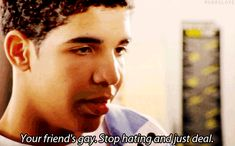 "When he schooled Spinner about Marco's homosexuality. | Drake's Top 10 Moments On ""Degrassi"""
