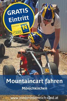 Die Erlebnisalm bietet Spaß und Abwechslung für die ganze Familie. Mit der 4er-Sesselbahn geht's bequem bergauf zum Startpunkt der Roller- und Mountaincartbahn. Auf der ca. 2 km langen Strecke kann man auf robusten Rollern oder mit schnittigen Mountaincarts (gegen Aufpreis) über Wellen und Steilkurven ins Tal flitzen. Bei der Bergstation beginnt auch der einzigartige, 2,7 km lange Schaukelweg. Mit der Niederösterreich-CARD ist Berg- und Talfahrt mit dem Sessellift oder Roller kostenlos! Comic Books, Comics, Cover, Cards, Road Trip Destinations, Waves, Cartoons, Cartoons, Maps