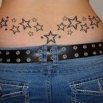 Stars Tattoos on Lower Back for Girls