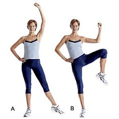 Standing exercises... Great for when you work at a desk all day... Take a break from sitting and get an ab workout it!