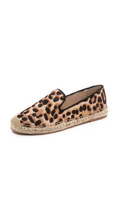 Leopard Espadrille Flats