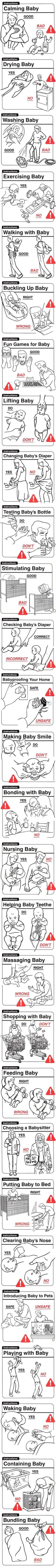 What not to do with a baby - 9GAG