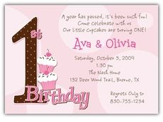 First Birthday Dots Girl Twins Birthday Invitation