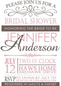43 best cheap bridal shower invitation images on pinterest wedding pink vintage bridal shower invitations cheap ewbs028 as low as 094 filmwisefo