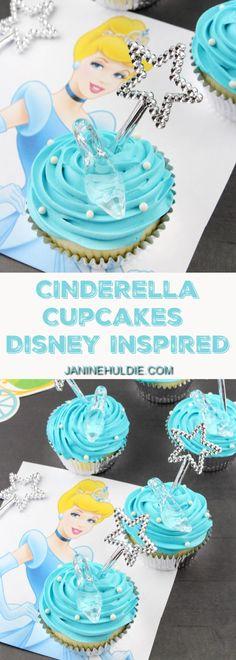 Cinderella Cupcakes, This Mom's Confessions Disney Themed Food, Disney Inspired Food, Disney Food, Disney Recipes, Cinderella Cupcakes, Disney Cupcakes, Cinderella Party, Baking Cupcakes, Cupcake Recipes