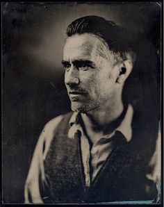 by Daniel A. Carrillo - mezzotint artist and photographer / print made using the wet collodion method invented in 1850 Old Photography, Photography Tutorials, Portrait Photography, Wet Plate Collodion, Alternative Photography, Tintype Photos, Seattle Photographers, Old Portraits, Daguerreotype