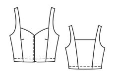 Корсаж - выкройка № 115 из журнала 4/2013 Burda – выкройки корсажей на Burdastyle.ru