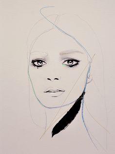 "CREATE: ""Match"" Portrait Fashion Illustration art by Leigh Viner"