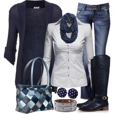Navy...basketweave, polka dots, leather.
