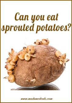 Can You Eat Sprouting Potatoes? http://madamedeals.com/sprouting-potatoes/ #inspireothers #potato