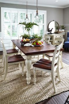 Sometimes, choosing the right furniture is more complicated than opting for the best dining room design. Now, you can try to use this unique farmhouse dining room table, that can be the best furniture for your dining room. There is… Continue Reading → Farmhouse Dining Room Set, Farmhouse Table Plans, Cottage Dining Rooms, Dining Room Table Decor, Dining Room Walls, Dining Room Lighting, Dining Room Design, Rustic Farmhouse, Kitchen Tables