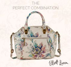 The perfect combination. A refined and structured satchel with our signature whimsical hand-painted floral pattern. Shop the collection.