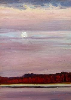 """""""Softly She Rises"""" by Takeyce Walter 5x7"""" oil available - $150"""