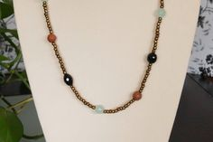 A personal favorite from my Etsy shop https://www.etsy.com/listing/286196749/handmade-beaded-necklace-with-onyx