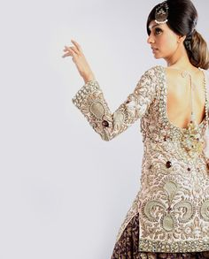 $1580 Payal Singhal Blush Zardozi and Crystal Suit with Purple Brocade Patiala - Exclusively In