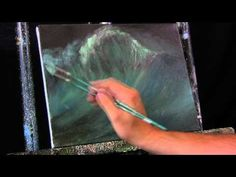 ▶ Time Lapse Acrylic Painting Ocean Wave Crashing with Interference Paints by Tim Gagnon - YouTube