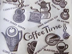 Coffee Time Vintage Paper Napkin