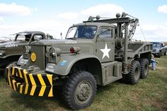 Diamond T 43 closed cab wrecker Train Truck, Tow Truck, Pickup Trucks, Army Vehicles, Armored Vehicles, 4x4, Heavy Truck, Military Equipment, Military Weapons