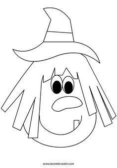 viso-befana-2 Halloween Silhouettes, Halloween Clipart, Halloween Prints, Halloween Pictures, Halloween Cards, Fall Halloween, Moldes Halloween, Manualidades Halloween, Adornos Halloween