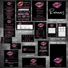 LipSense Bundle, lipsense business card bundle, lipsense bundle, lipsense marketing kit, SeneGence k Lipsense Business Cards, Makeup Business Cards, Custom Business Cards, Business Card Design, Best Beauty Tips, Beauty Advice, Beauty Care, Beauty Hacks, Black Nail Tips