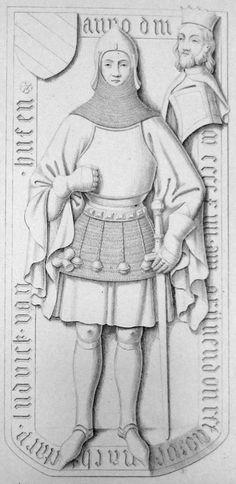 Luwig van Hutten -1414 Neumark, Brandenburg, Germany. Just a few Kilometers from Western Poland. From: Hefner-Alteneck, Jakob Heinrich von. 1854. Trachten des christlichen mittelalters. Hoff