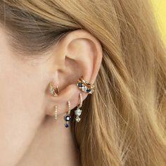Gold Bar Earrings, Peridot Earrings, Tiny Stud Earrings, Crystal Earrings, Statement Earrings, Diamond Necklaces, Ear Jewelry, Fine Jewelry, Double Ear Piercings