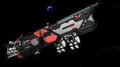 A mech transport by StarMade forum member Toninjo.