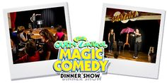 Wonder Works Out of Control Magic and Comedy Dinner Show! Discount Disney Tickets, Attraction Tickets, Guest Services, Orlando, Comedy, Pizza, Magic, Dinner, Dining