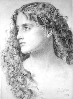 Miranda, Frederick Sandys. English Pre-Raphaelite Painter, (ca1829-1904)