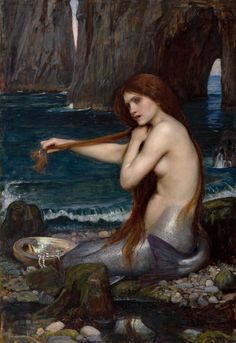 Mermaid by John William Waterhouse PDF Cross Stitch Pattern by StitchedLizard on Etsy