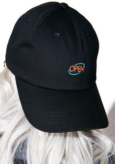 CRSHR Open Sign Dad Hat iz takin' business 24hrs! This sik dad hat features an unstructured cotton construction, curved brim,…