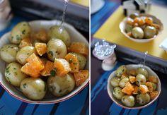Batatinhas em vinagrete de tangerina